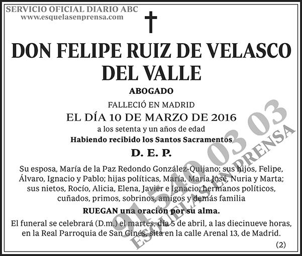 Felipe Ruiz de Velasco del Valle